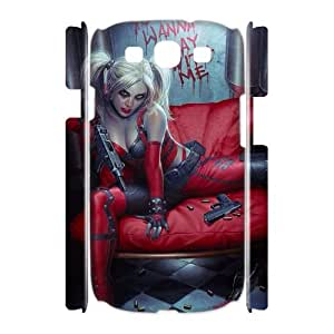 Chinese Harley Quinn Custom 3D Case for Samsung Galaxy S3 I9300,personalized Chinese Harley Quinn Phone Case