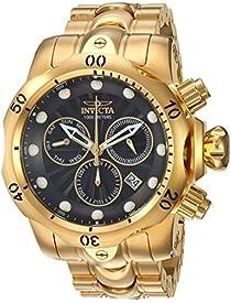 Invicta Men's Venom Quartz Watch with Stainless-Steel Strap, Gold, 26 (Model: 25904