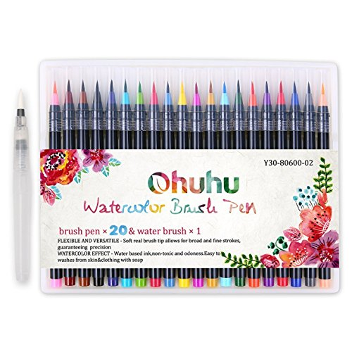 Ohuhu Art Markers Dual Tips Coloring Brush Fineliner Color Pens 60 Colors Of Wa