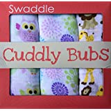 "Baby 100% Cotton Muslin Swaddle Blanket by Cuddly Bubs - Pack of 3 Best Swaddling Wraps 47x47"" for Infant Boys & Girls Make Unique Gifts for New Babies & Baby Shower - Breathable Reusable Versatile Softer with Each Wash - Perfect Receiving Blankets"