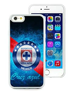 CDSC Cruz Azul 3 White TPU Case for iPhone 6 (4.7),Prefectly fit and directly access all the features
