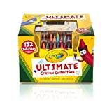 Crayola Ultimate Crayon Collection; 152 Colours, Durable Caddy Case, Sharpener, School and Craft Supplies, Gift for Boys and Girls, Kids, Ages 3,4, 5, 6 and Up, Holiday Toys, Stocking , Arts and Crafts,  Gifting