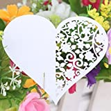 50pcs Wedding Party Table Name Place Cards Favor Decor Love Heart White