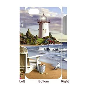 GGMMXO Lighthouse Shell Phone Case For Iphone 4/4s [Pattern-1]
