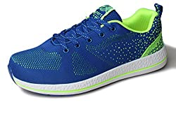 Kunsto Men's Fashion Athletic Sneakers Sports Shoes Lace Up US Size 11.5 Blue