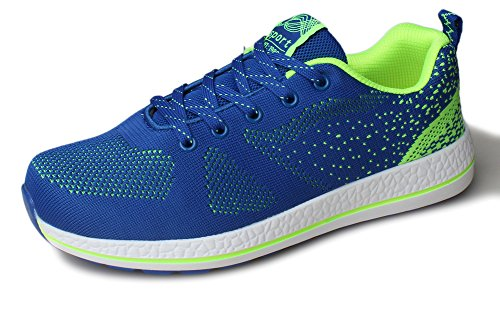 Kunsto Men's Fashion Athletic Sneakers Sports Shoes Lace Up US Size 12 Blue (Classy Outfits For Men)