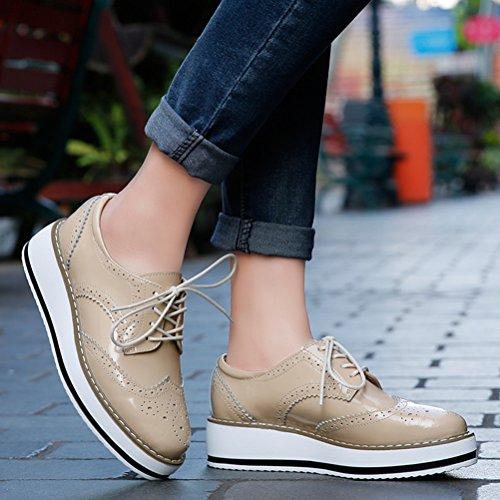 ville pour lacets de abricot à DADAWEN femme Chaussures AEnpqXX