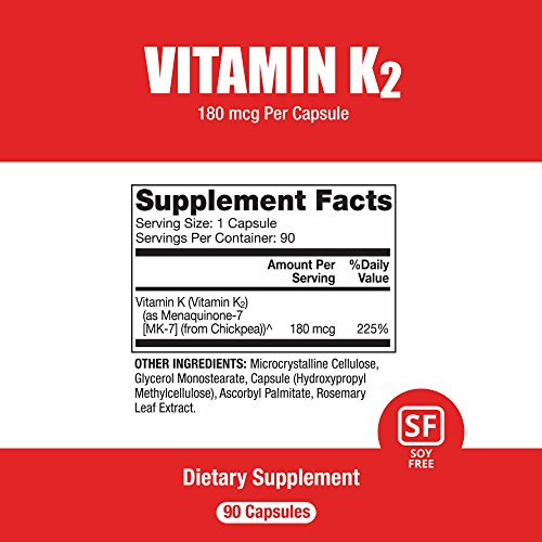 Dr. Mercola Vitamin K2 Supplement - 90 Capsules – Support Cardiovascular and Bone Health with Patented MenaQ7 K2-MK7 Made From Natto with Fermented Chickpeas by Dr. Mercola (Image #1)