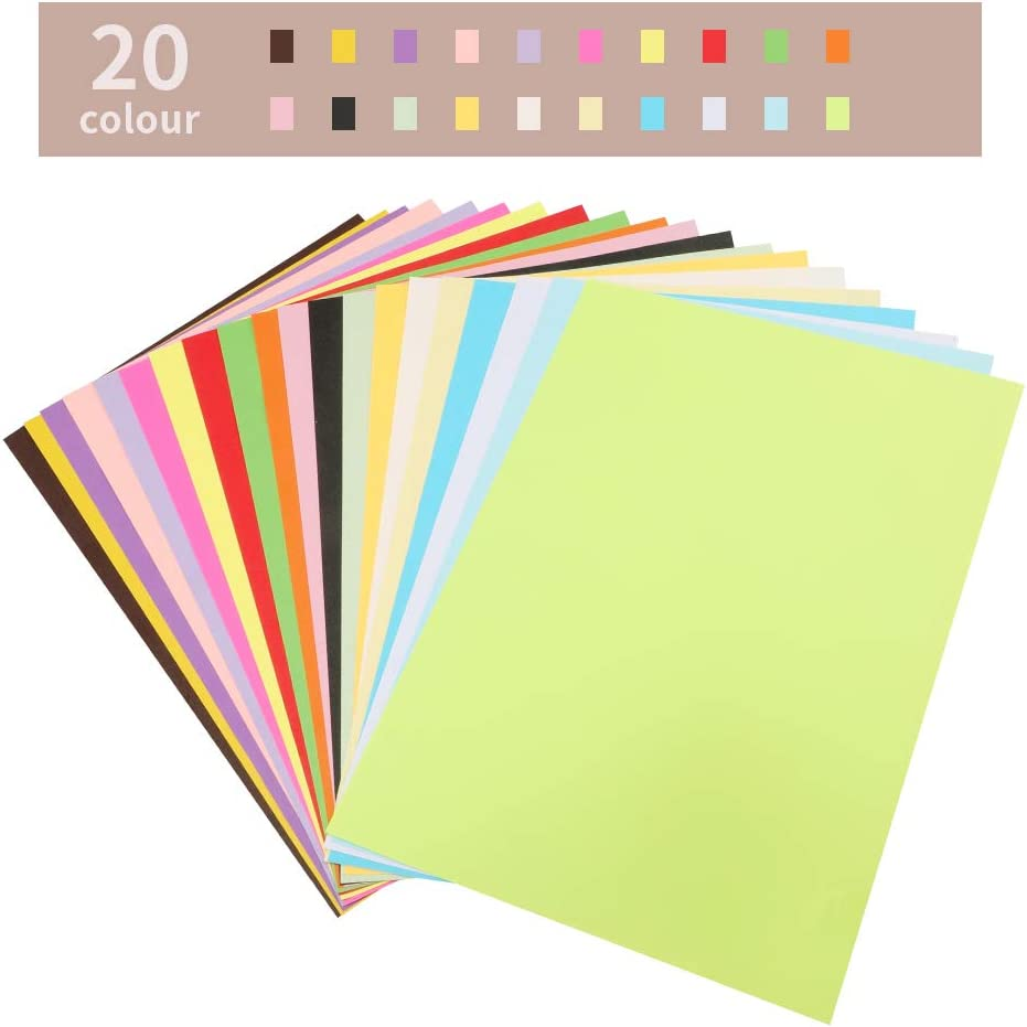 297MM X 210MM 100 Sheets A4 Origami Paper,70 GSM Coloured Paper,Assorted Pastel Paper for Handmade Origami,Coloured Printer Paper