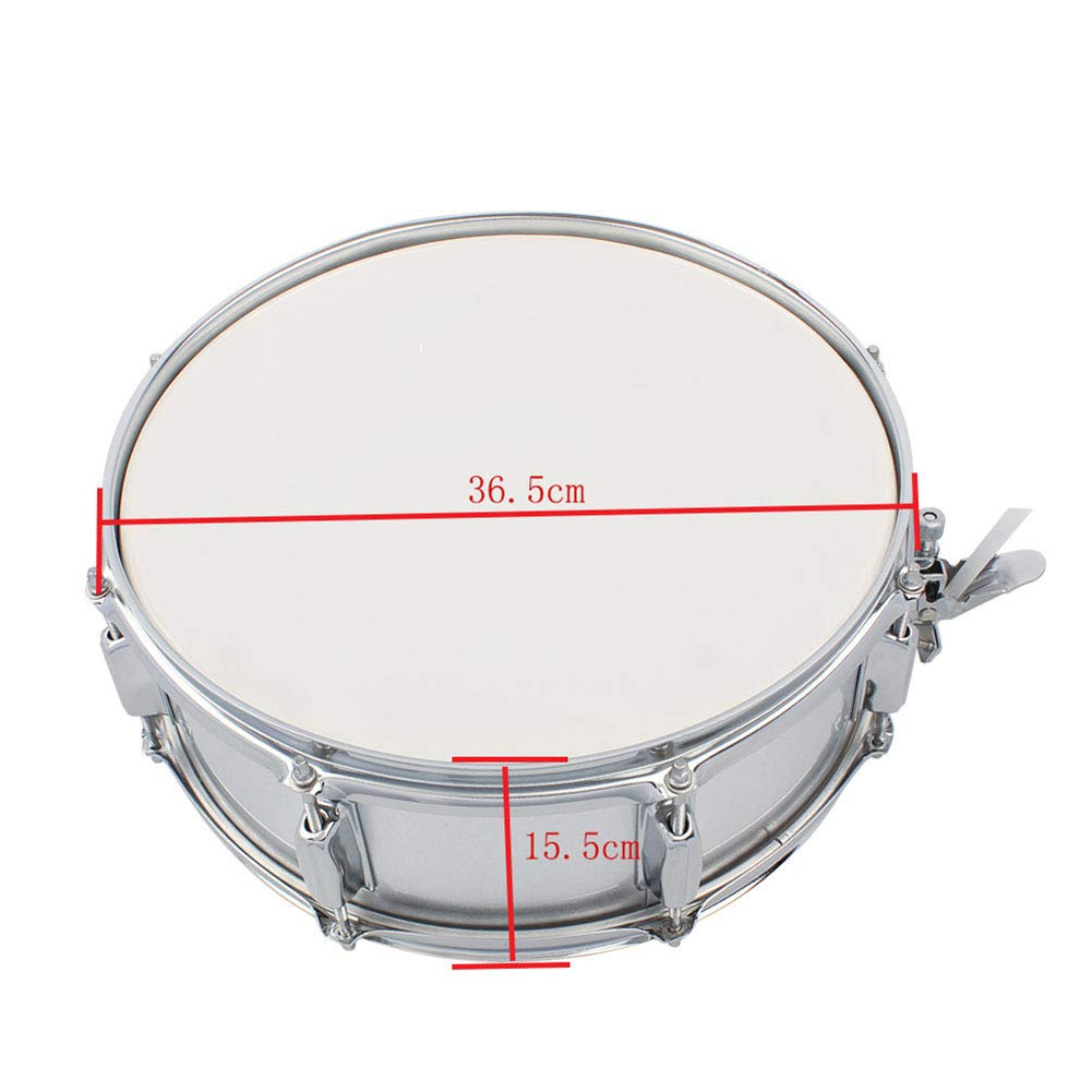 MG.QING Small Snare Drum 14 inch Professional Snare Drum Student Band with Drumsticks, Straps, Tuning Key,Pink by MG.QING (Image #5)