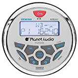 Planet Audio PGR35B IPX6 Rated, Bluetooth, Digital Media MP3/WMA/USB/AM/FM Compatible, Weather-Proof Marine Stereo, (No CD Player)