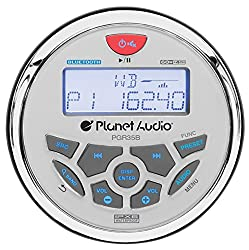 Planet Audio Pgr35b Ipx6 Rated, Bluetooth, Digital Media Mp3wmausbamfm Compatible, Weather-proof Marine Stereo, (No Cd Player)