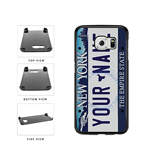 Price comparison product image BleuReign(TM) Personalized Custom Name Retro New York License Plate Plastic Phone Case Back Cover For Samsung Galaxy S6 Edge