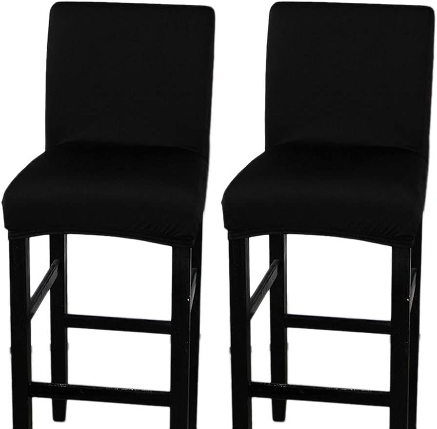 6 Colors Stretch Short Back Bar Stool Dining Chair Cover Machine Washable