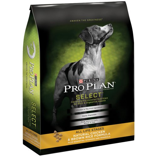 Purina Pro Plan Select Natural Chicken Brown Rice Dry Dog...