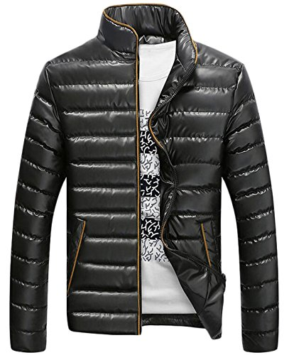 Collar Winter EKU Jacket Luxury Coat XXL Down Fashion Black Men's Stand US wrggxUXIq
