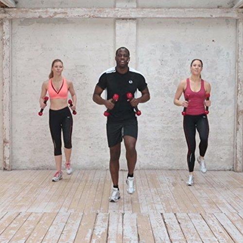 Ultrasport Set de danza/fitness formado por dos mancuernas Toning Sticks y DVD de entrenamiento - mancuernas apropiadas para zumba, ideal para mujeres ...