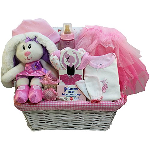 Baby Ballerina Gift Basket, Pink Girl (Baby Basket Gift Mother)