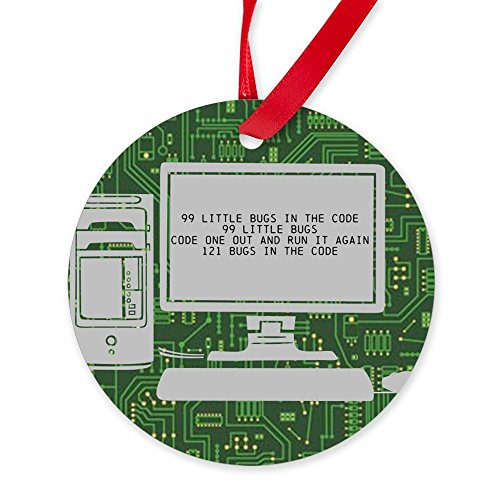 CafePress - 99 Bugs In The Code Ornament - Round Christmas Ornament