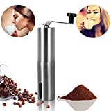 Healthy coffee grinder that does not impair the Happon hand grinder coffee mill manual ceramic cutter made of stainless steel clean simple roughness adjustable grinder rust not flavor