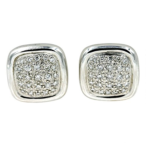 Diamond Fashion Earrings in 14K White Gold (1/2 cttw) ()