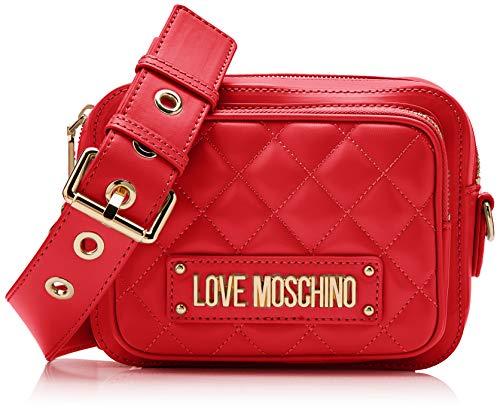 15x10x15 Quilted Donna rosso Borsa H w X Pu L Moschino Nappa Cm Love Tracolla A Rosso 8qw0gA