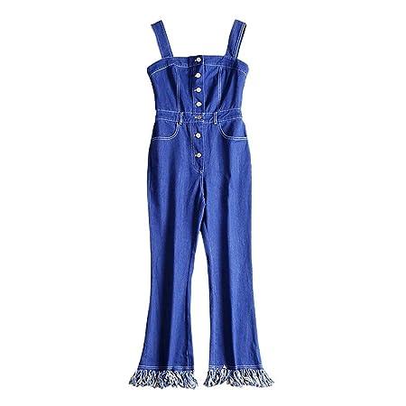 Mujeres Romper Pantalones Mujeres Classic Rompers Denim Monos ...