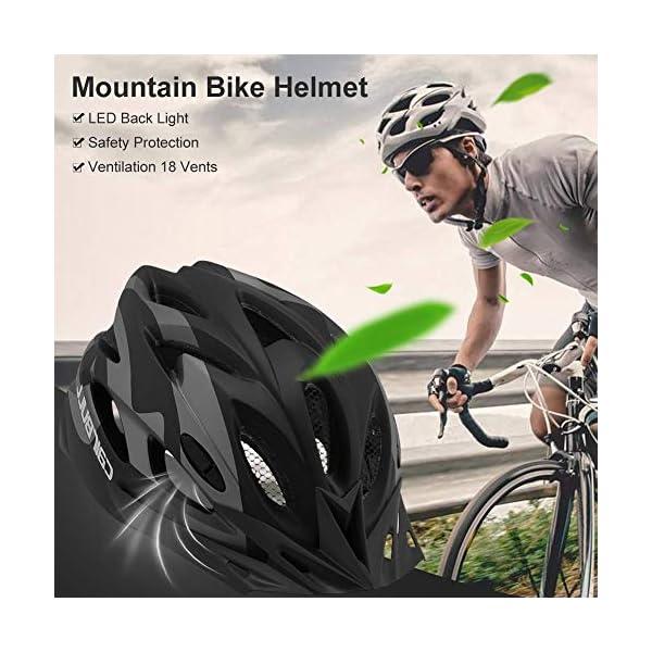 earlyad Casco per Bicicletta Protezione di Ciclismo sicura Regolabile Ventilazione del Casco Copricapo da Motociclista con luci per Casco da Bici per Adulti 5 spesavip