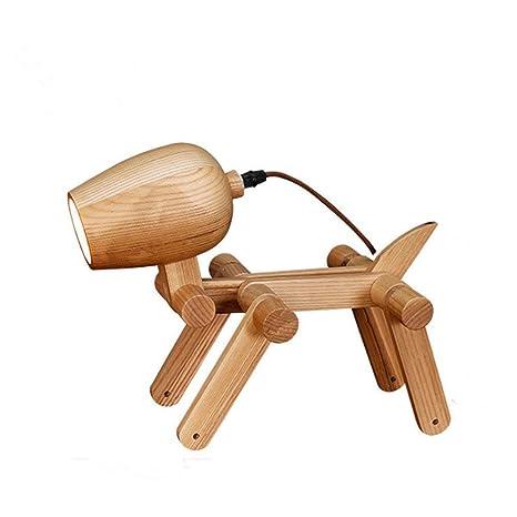 Hoovo Máquina de Madera Creativa Lámpara de Mesa para Perros Lámpara de Mesa Plegable Luz de