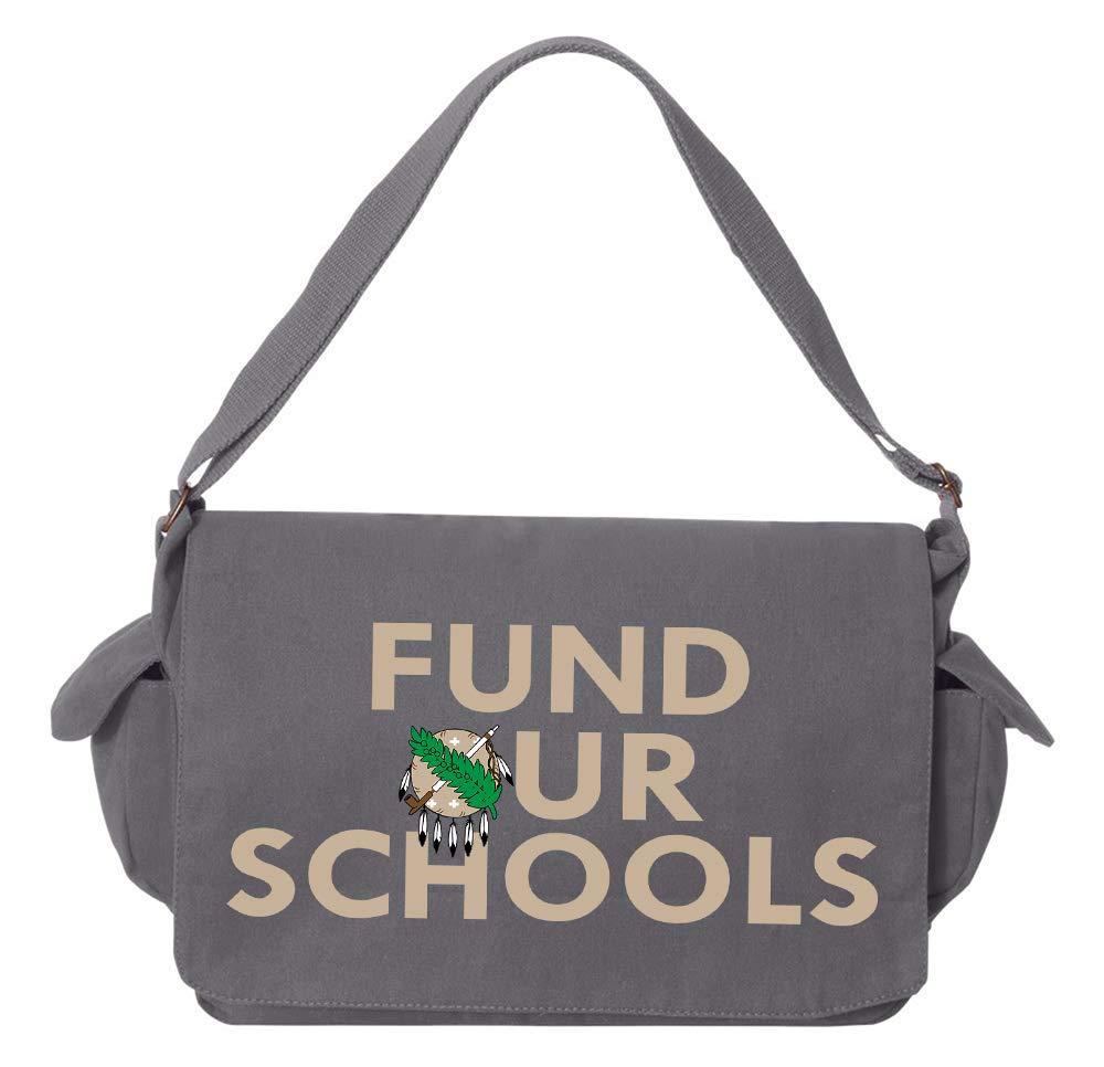 Oklahoma Shield Maroon Brushed Canvas Messenger Bag Tenacitee Fund Our Oklahoma Schools