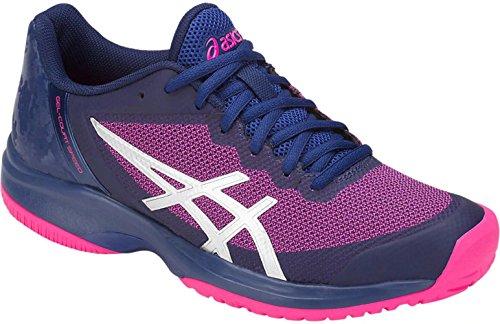 ASICS Women's Gel-Court Speed Blue Print/Pink Glo 8 B US