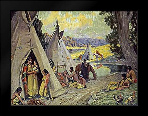 Indian Camp Framed Art Print by Couse, ()