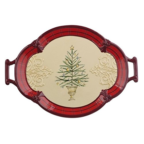 Grasslands Road Christmas Tree Serving (Japan China Silver Wreath)