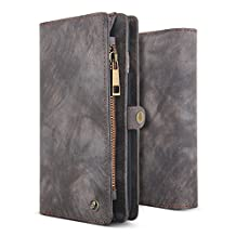 iPhone 8 & iPhone 7 Wallet Case, BELK Detachable Slim Luxury Leather Cover with Magnetic kickstand Folio Card Holder and Cash Pocket for Apple iPhone 7/iPhone 8 - 4.7 inch, Retro Black