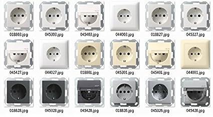 Gira Standard 55 Schalterprogramm Steckdosen Schalter reinweiß glänzend wählbar