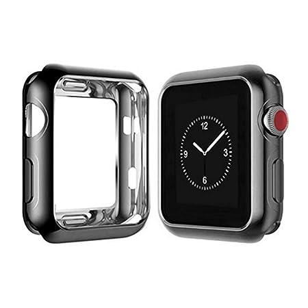 Amazon.com: Apple Watch Series 4 - Carcasa de silicona para ...