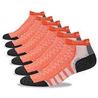 Running Cushion Socks, Gmall Men's Athletic Single Tab Performance Low Cut Socks