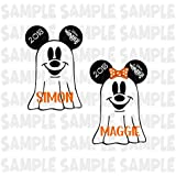 PERSONALIZED Disney Cruise Ghost Magnet. Halloween Ghost Minnie Mickey Head. Handmade Halloween Disney Cruise Magnet.