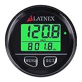 LATNEX SP-GPS95 Universal Digital GPS Speedometer Waterproof. Displays Speed(MPH/KMH), Distance Traveled and Time - Suitable for ATV UTV-Marine-Boats-Motorcycle- Automobile Motor Vehicle Bikes