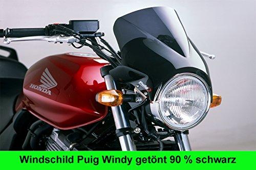 PC 26 Puig 1482F1081 1482F1081 Windschutz-Scheibe WINDY HONDA CB 500 90/% schwarz Co Set Kit
