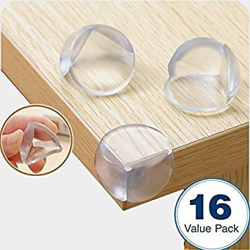 Kyerivs 16 Pack Transparent Table Corner Guard High Resistant