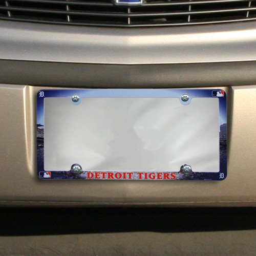 MLB Detroit Tigers Full Color License Plate Frame, Team Color, One ()