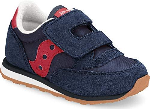 Saucony Jazz Hook & Loop Sneaker (Toddler/Little Kid), Navy/Red, 11 M US Little Kid