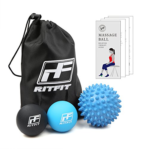 RitFit Massage Ball Set (Blue and Black)