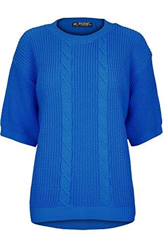 Short Sleeve Knit Pullover - 3
