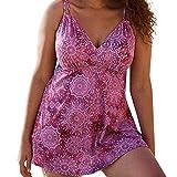 Jianekolaa_Swimwear Plus Size Swimsuit for Women High Waist Swimdress Flared Skirt Bikini Bathing Suits with Bottom