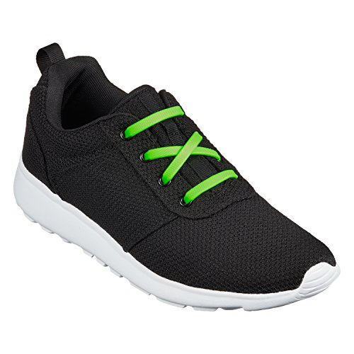 Vert Vecchiano Élastiques Chaussures Di Adultes Pour Et No Loisirs Enfants plat Tie Premium Lacets De Shoe Laces Sport Ficc Baskets H5q5f