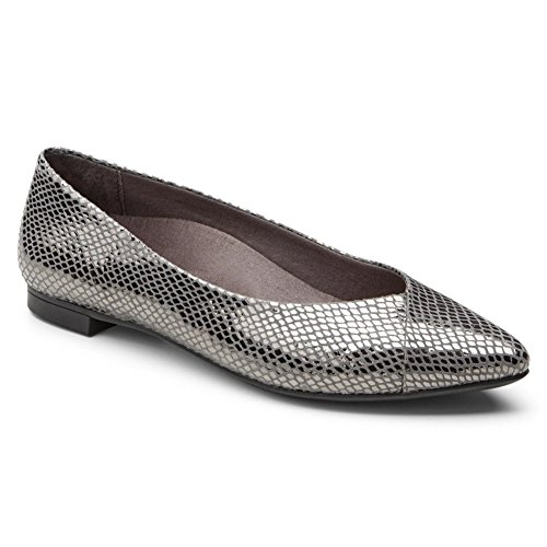 6 on Vionic Slip Women's Flat 5 PEWTER Caballo Gem M SNAKE wfx8ap4