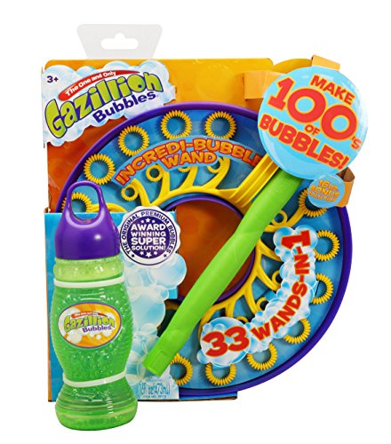 Gazillion Incredibubble Multiple Bubble Wand, Green