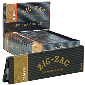 Zig Zag King Size Cigarette Rolling Paper (24 Booklets Retailers Box) from Zig Zag